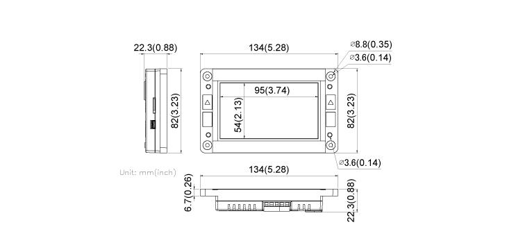 COMFILE HMI CHA-043PR Dimensions